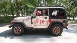 A Kentucky man's Jeeps is his canvas for Halloween-themed fun with Pennywise, the clown from Stephen King's 'It' horror story.
