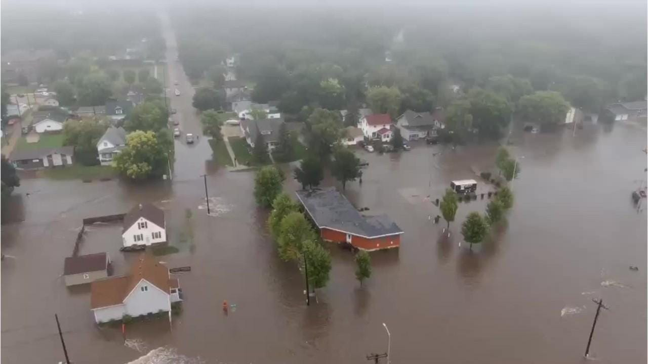 madison flooding there was really no way to prepare for this aerial video shows extent of madison flooding from the air