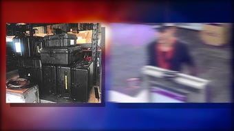 A package thief stole more than $100,000 in broadcasting equipment in the Crime Stoppers' Crime of the Week.