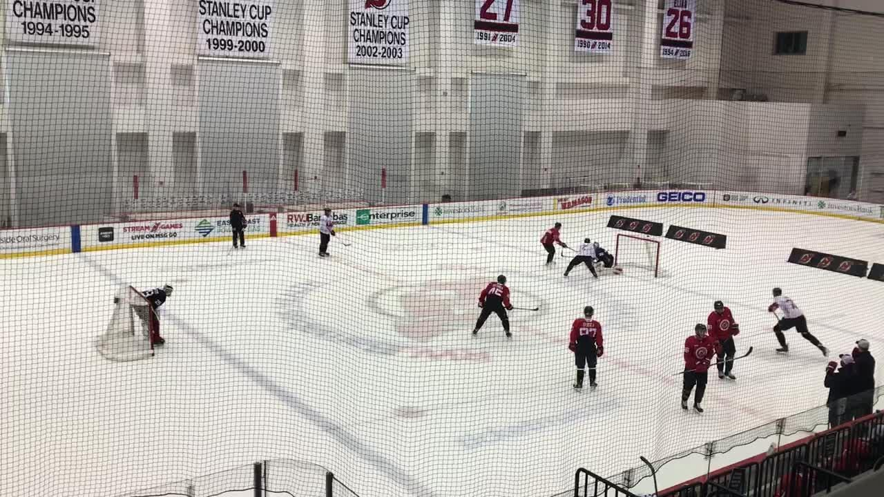 info for 5832d 586fe WATCH: NJ Devils' new additions hit the ice