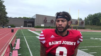 Senior cornerback Chris Harris talks about St. John's home opener at 1 p.m. Saturday at Clemens Stadium against Gustavus.
