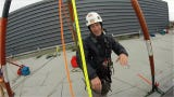 Over the Edge: Rappelling down the Norm Dicks Building for charity