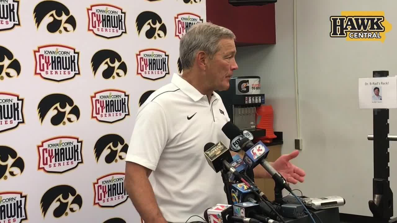 Kirk Ferentz praises Iowa's toughness after Cy-Hawk win