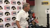 Iowa head coach Kirk Ferentz was spent, as were both teams, after a Cy-Hawk classic.