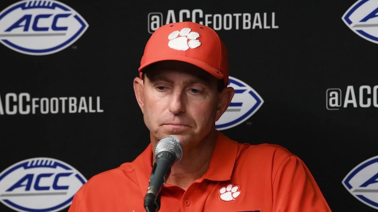 Coach Swinney after the win over Syracuse
