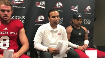 SUU beat Stephen F. Austin 45-38 in overtime in a game that featured 923 total yards. Coach Demario Warren talks after the win.