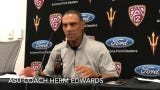 ASU coach Herm Edwards on making Michigan State game ugly, officiating error on final play
