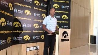 Iowa special teams coordinator LeVar Woods says Nico Ragaini has a bright future as punt returner. Hear him explain why: