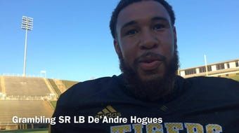 Grambling State senior linebacker De'Andre hogues discusses how team use close losses for motivation and to improve.