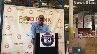 Louisiana Rice Promotion Board Chairman and Richland Parish Farmer John Owen discusses National Rice Month and a donation to the Food Bank of NELA.