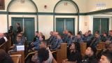 Courtroom packed with uniformed officers for detention hearing of Alecia Jones and Tyson Stamper, charged with assaulting a NJ State Trooper.