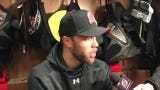 Taylor Hall talks about playing in his first game since before Christmas.