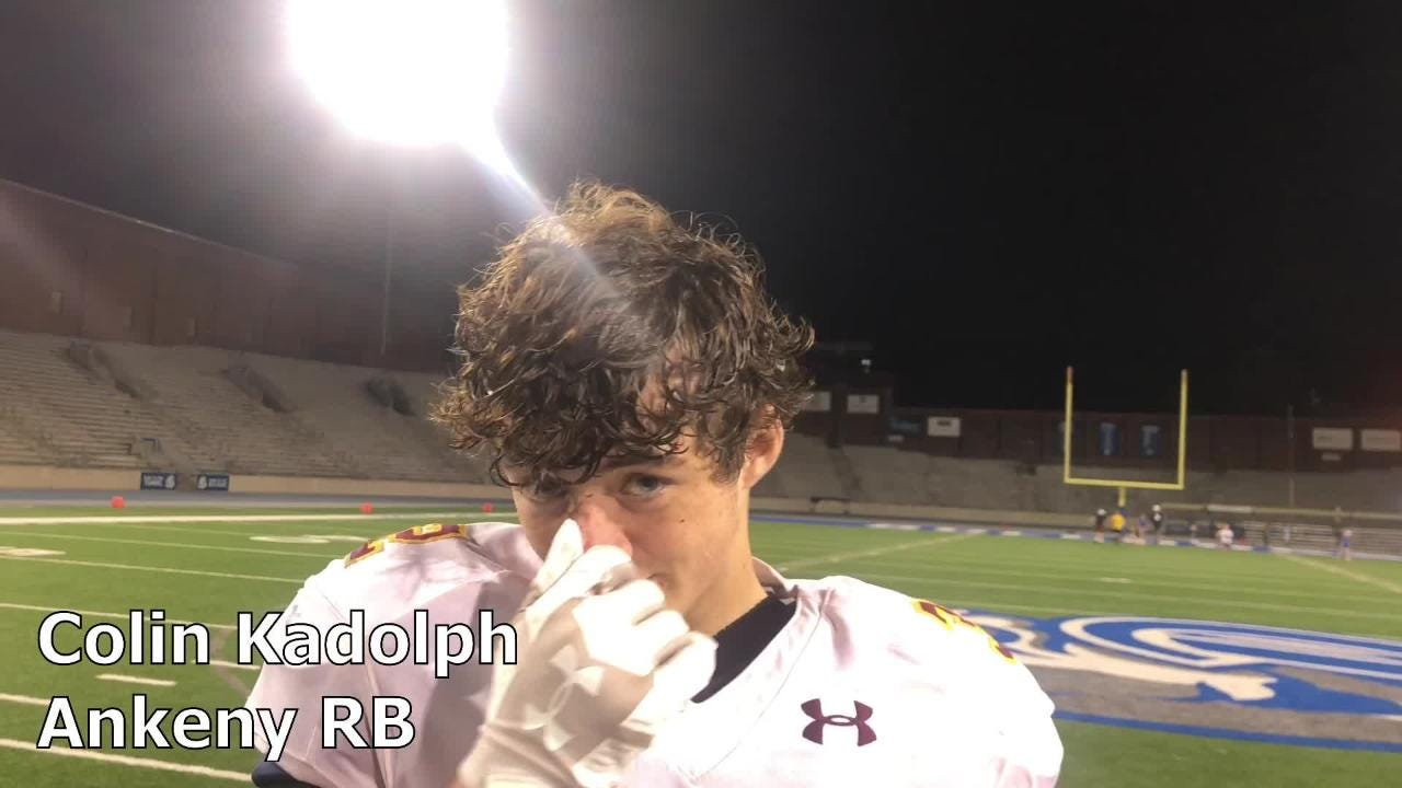 Ankeny's Colin Kadolph scored three touchdowns against Roosevelt
