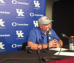 Kentucky football coach Mark Stoops' postgame news conference following a 28-13 loss at Mississippi State.