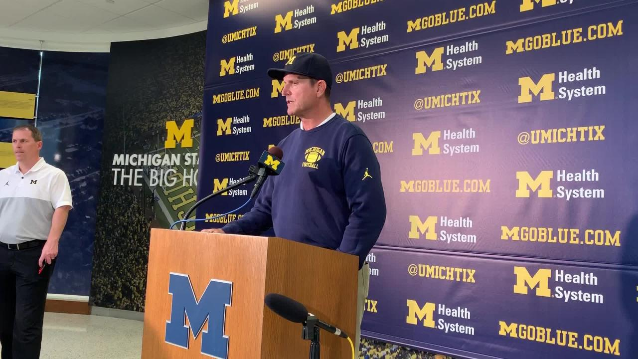 Michigan's Jim Harbaugh on Wisconsin loss: 'Not a day we're proud of'