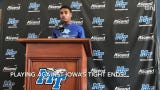 MTSU players Jovante Moffatt and Will Gilchrist talk about this week's matchup with the Iowa Hawkeyes.
