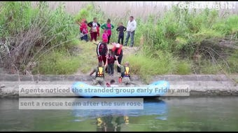 11 Central American nationals, including five children, were stuck on an island in the Rio Grande on Friday, Sept. 20, near Del Rio, Texas.
