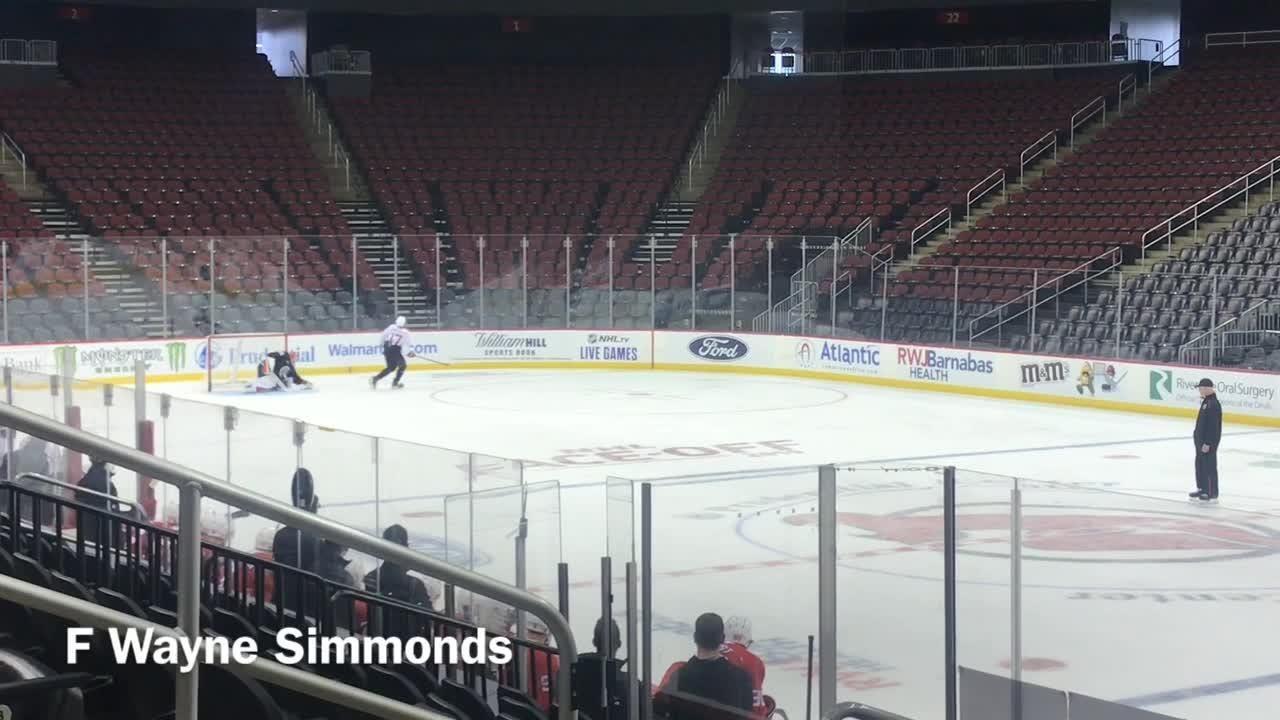 promo code dd69a 5ce20 VIDEO: NJ Devils practice shootouts