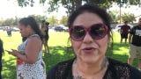 Andrea Huerta voices her concerns about Visalia School District's handling of Valley Oak Middle School's Hazmat incident.